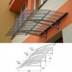 Icopal - roof above balconies Awning Fastlock 120
